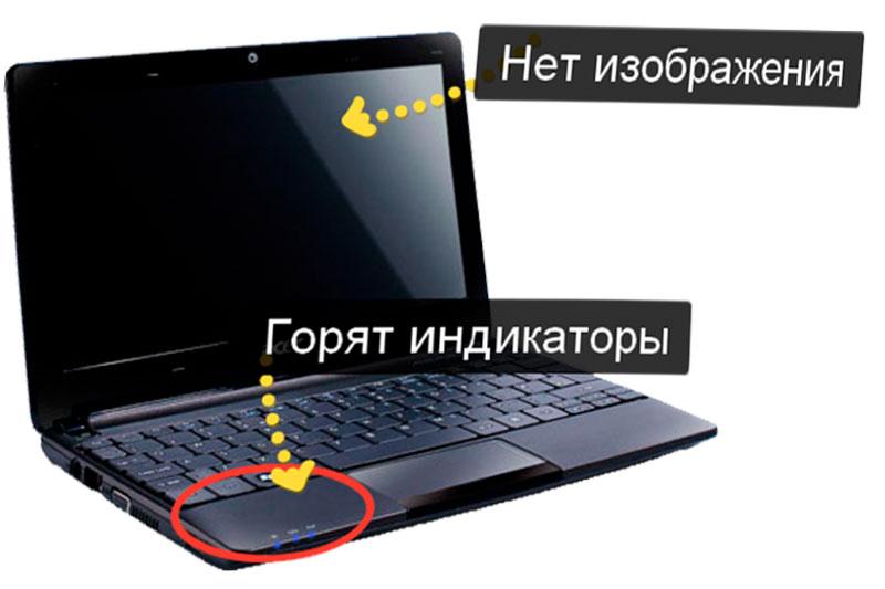 Как сделать так чтобы ноутбук не включается 417