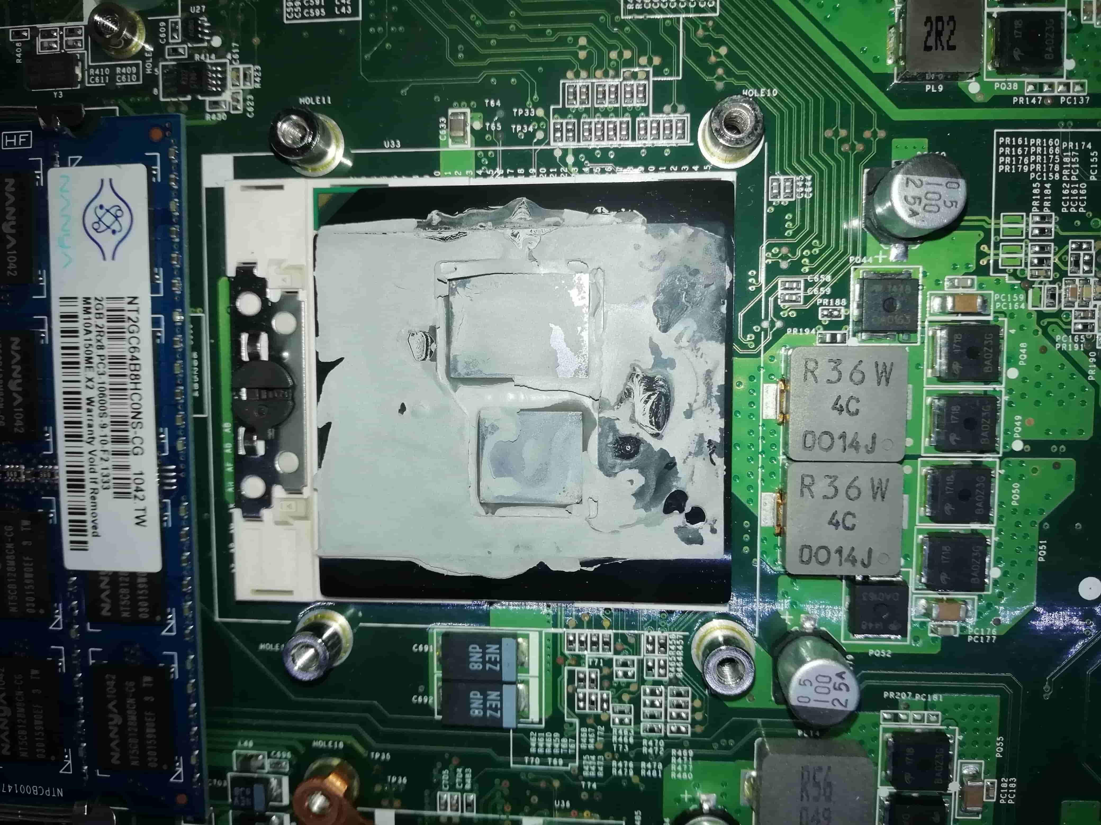 высохла термопаста на процессоре