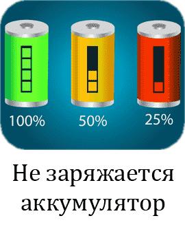 Не заряжается аккумулятор